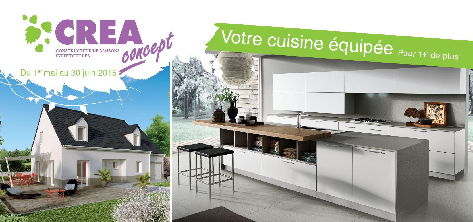 cuisine équipée pour 1€ de plus - Crea Concept