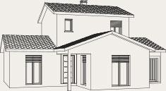 Plan de la maison à étage sur demi-niveau Créalliance - Créa Concept
