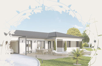 Simple maison de plainpied en l craccord with modele de for Budget maison neuve sans terrain