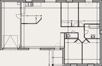 plan de maison en L - Créa Concept