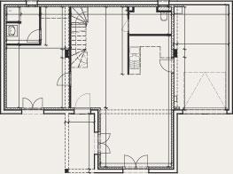 plan de maison en T - Créa Concept
