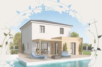 maison contemporaine à étage avec plan en S - Créaryles