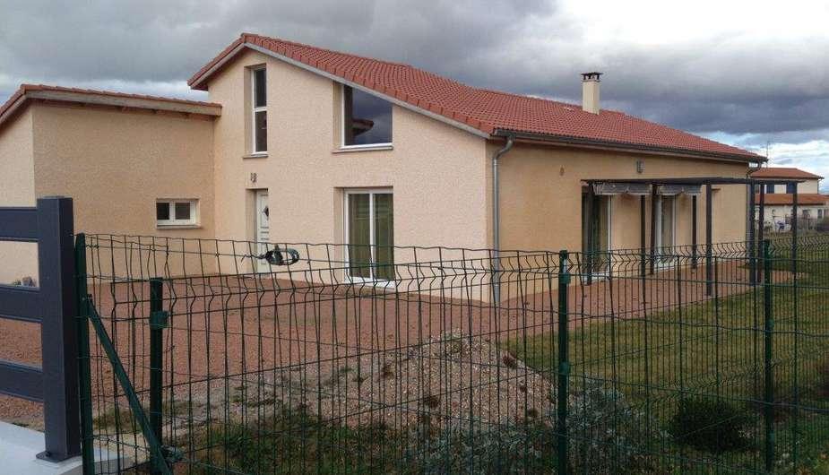 construction dune maison avec mezzanine lentigny cra concept roanne - Maison Plain Pied Avec Mezzanine