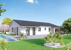 plan maison neuve mod le cr ad le soleil cr a concept. Black Bedroom Furniture Sets. Home Design Ideas