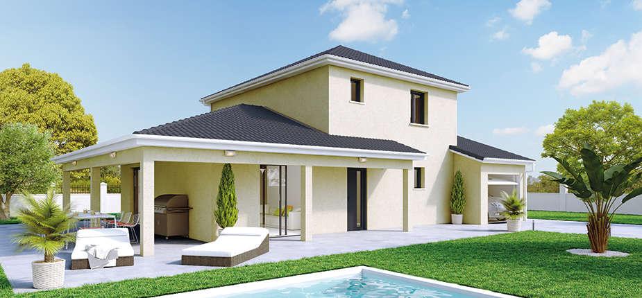 plan maison traditionnelle mod le cr acienda soleil. Black Bedroom Furniture Sets. Home Design Ideas