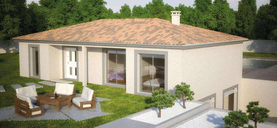 plan maison traditionnelle mod le cr attitude soleil. Black Bedroom Furniture Sets. Home Design Ideas