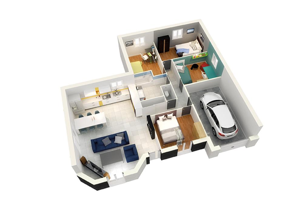 plan maison traditionnelle mod le cr alex ardoise. Black Bedroom Furniture Sets. Home Design Ideas