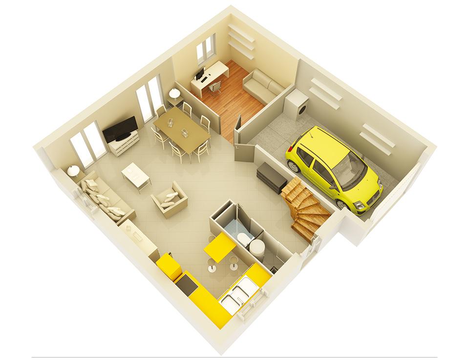 plan maison traditionnelle mod le cr alia ardoise. Black Bedroom Furniture Sets. Home Design Ideas