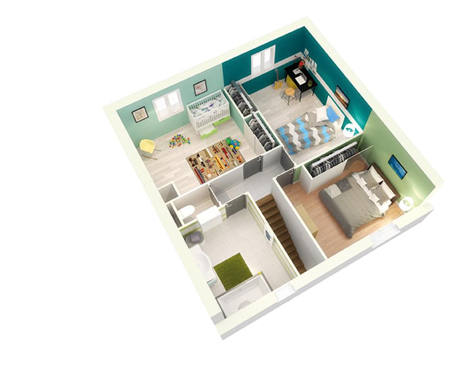 plan maison traditionnelle mod le cr amust soleil. Black Bedroom Furniture Sets. Home Design Ideas