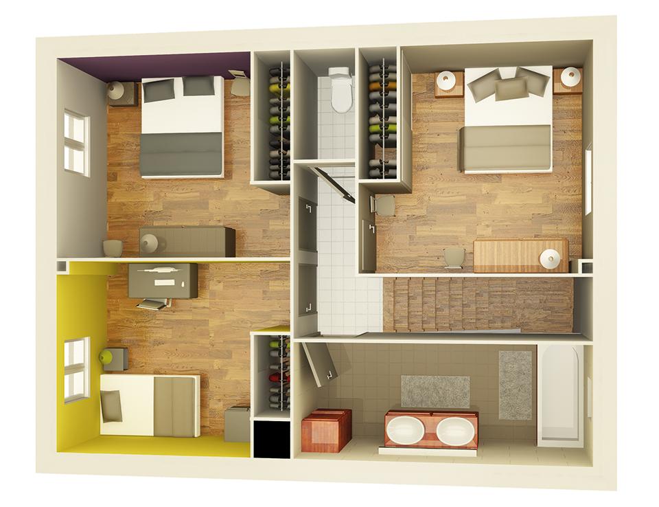 plan maison neuve mod le cr acienda soleil cr a concept. Black Bedroom Furniture Sets. Home Design Ideas