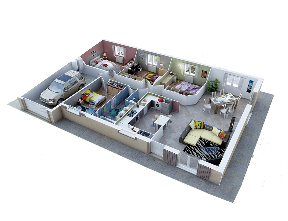 Plan maison neuve mod le cr ad le soleil cr a concept for Voir sa maison en 3d