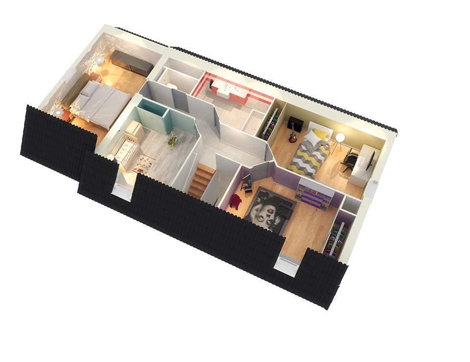 maison personnalisable creaffinite etage crea concept