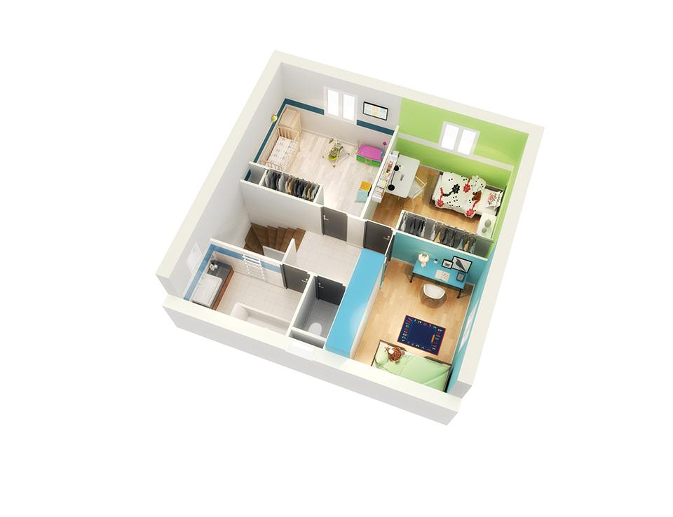plan maison neuve mod le cr albane soleil cr a concept. Black Bedroom Furniture Sets. Home Design Ideas