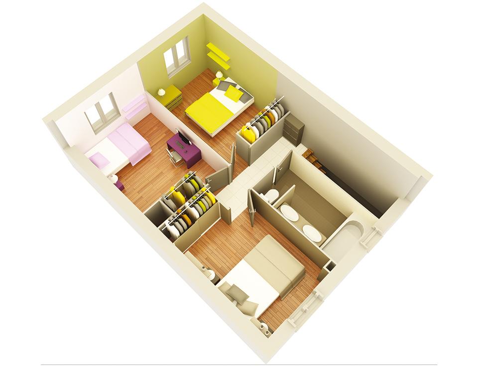 maison personnalisable crealia etage crea concept 1