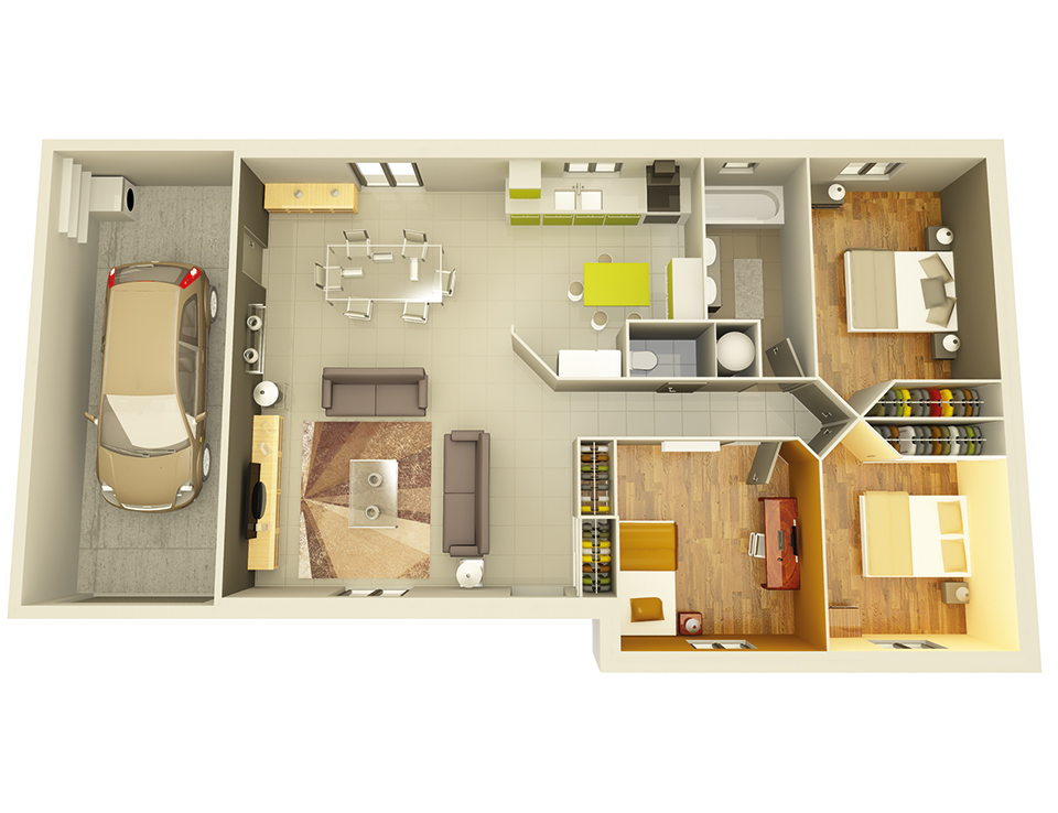 plan maison neuve mod le cr aliz e ardoise cr a concept. Black Bedroom Furniture Sets. Home Design Ideas