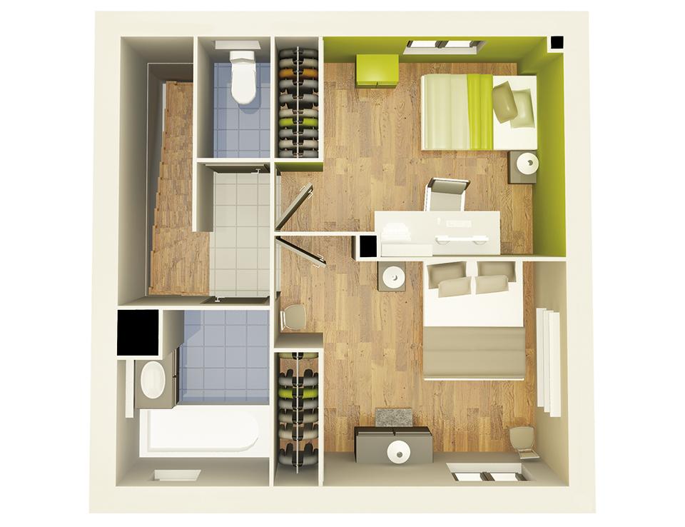 Gallery of maison crealliance etage crea concept with plan for Maison neuve plan