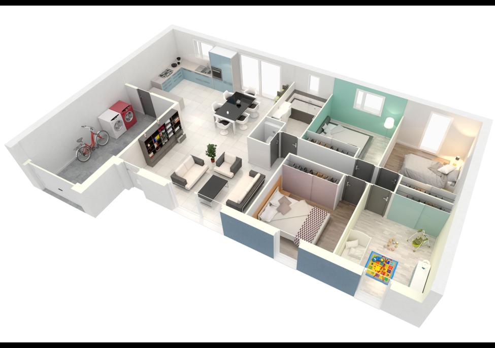 plan maison neuve mod le cr alyla contemporain cr a concept. Black Bedroom Furniture Sets. Home Design Ideas