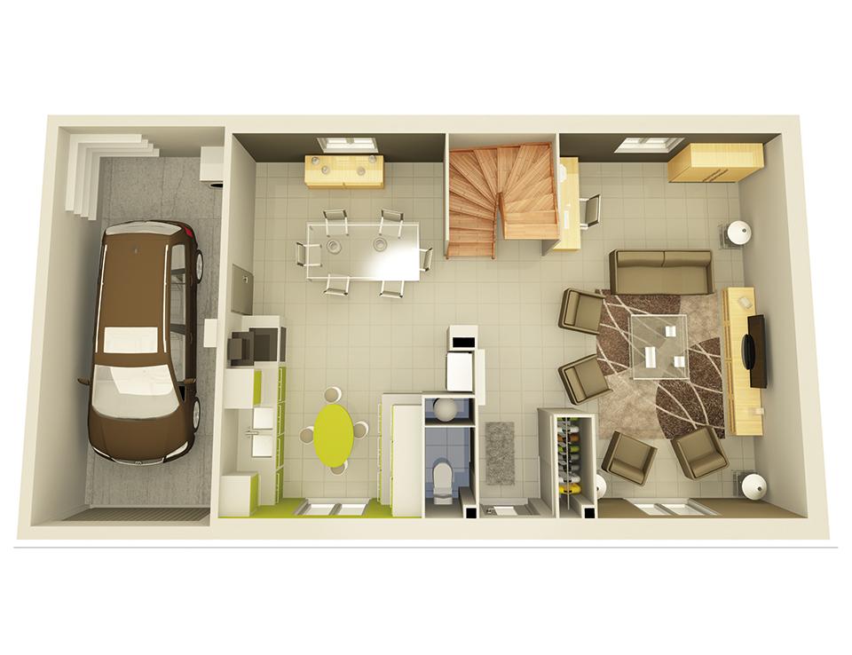 plan maison neuve mod le cr astar ardoise cr a concept. Black Bedroom Furniture Sets. Home Design Ideas