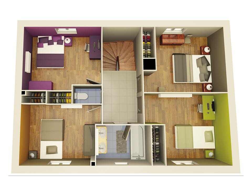 maison personnalisable creastar4 etage crea concept