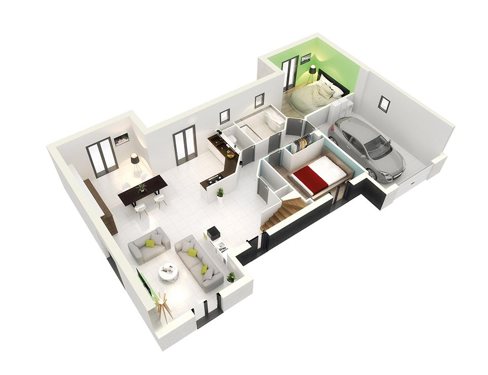 plan maison neuve mod le cr avenir ardoise cr a concept. Black Bedroom Furniture Sets. Home Design Ideas