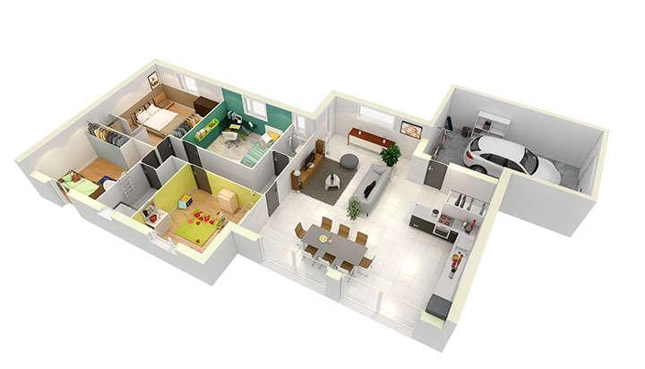offre maison neuve montelimar cr a concept 53490. Black Bedroom Furniture Sets. Home Design Ideas