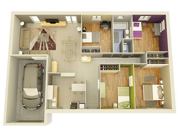 plan maison neuve mod le cr alight ardoise cr a concept. Black Bedroom Furniture Sets. Home Design Ideas