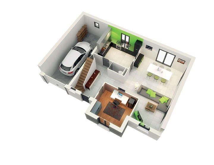 plan maison neuve mod le cr altesse ardoise cr a concept. Black Bedroom Furniture Sets. Home Design Ideas