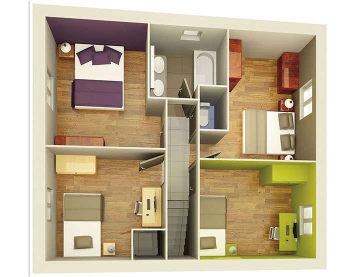 plan maison neuve mod le cr apolis ardoise cr a concept. Black Bedroom Furniture Sets. Home Design Ideas