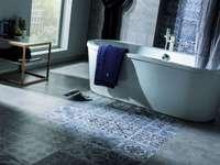 carrelage salle de bain effet carreaux de ciment porcelanosa 5456564