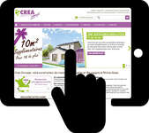 crea concept site mobile application immobilier