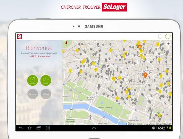 application mobile Se Loger - Partenaire Créa Concept