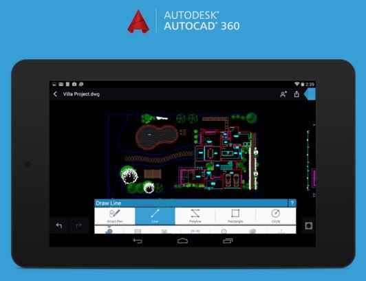 appli mobile Autocad 360 - modélisation de maison 3D