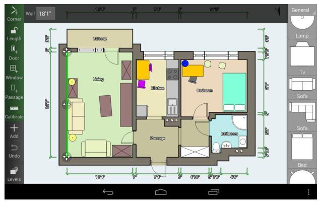 Floor Plan Creator : appli mobile pour création plan de maison
