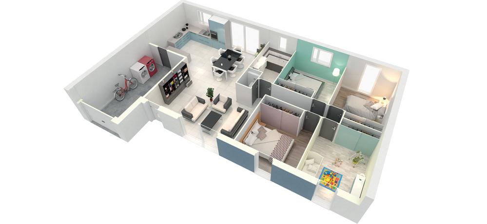 Plan de maison contemporaine Créa Concept