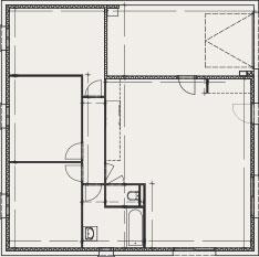 plan de maison carré - Créa Concept