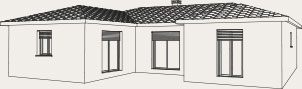 plan en U d'une maison plain-pied Créa Concept
