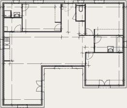 plan de maison en U - Créa Concept