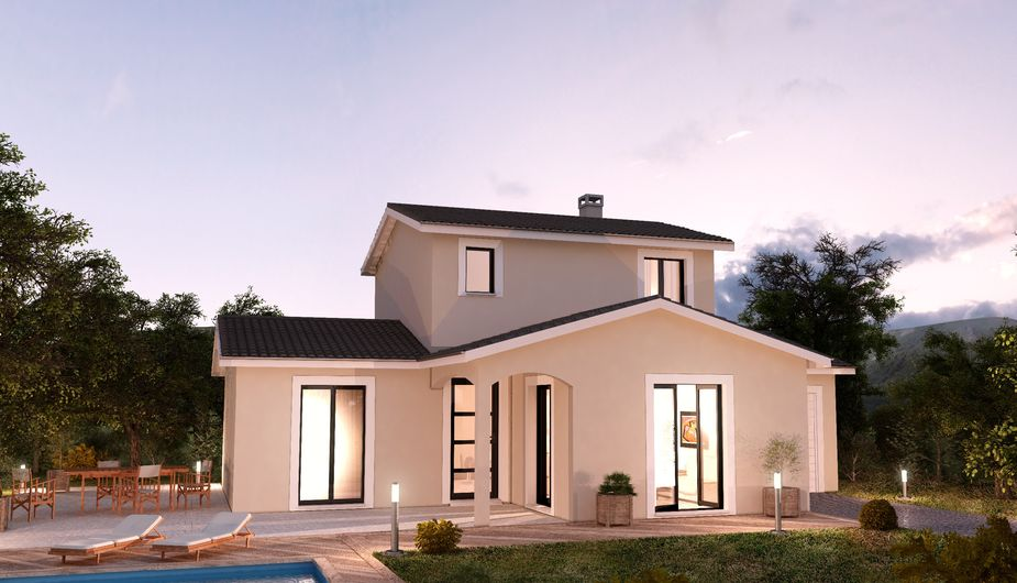 Maison neuve personnalisable serezin de la tour crea for Constructeur maison bourgoin