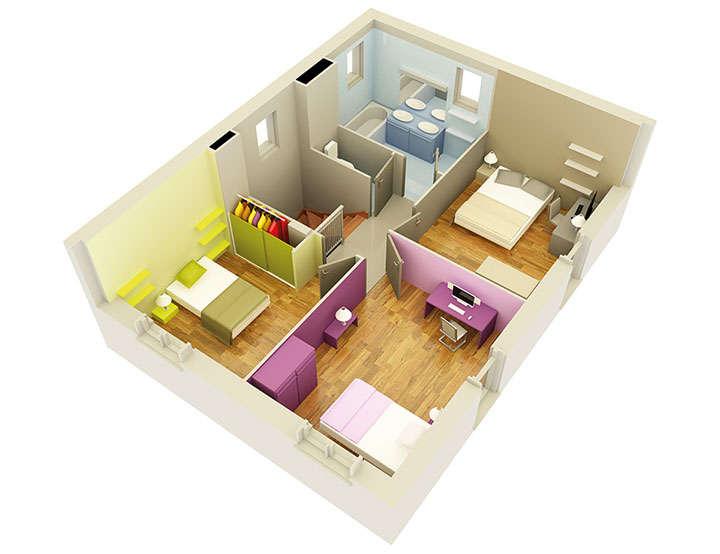 maison personnalisable pdv creathena etage mdcrea concept