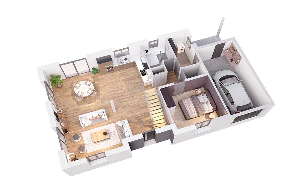 maison personnalisable pdv cr amarine rdc cr a concept