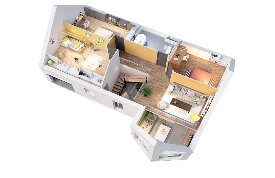 maison personnalisable pdv cr amelia etage crea concept